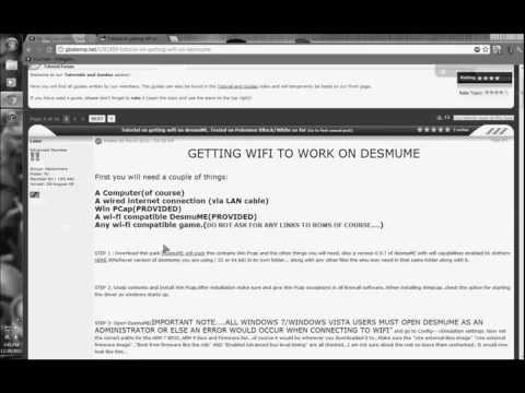 How to Work Wifi in DeSmuME