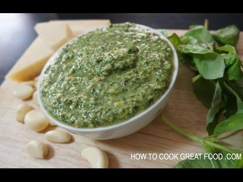 Homemade Pesto Recipe - Italian cooking