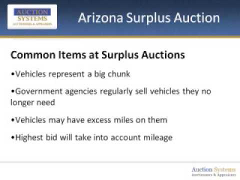 Arizona Surplus Auction: What Is It and How Can You Score?