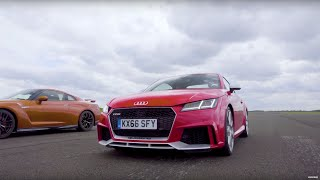 Nissan GT-R vs Audi TT RS - Top Gear: Drag Races