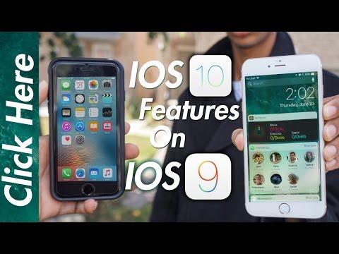 Top 10 Cydia Tweaks/ How to get iOS 10 Features on iOS 9 Jailbreak