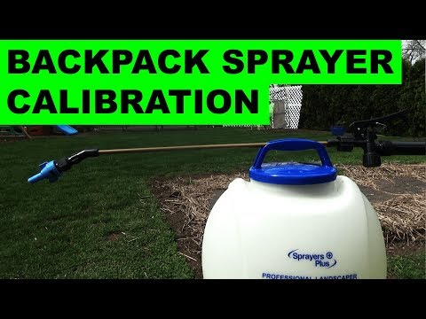 How I calibrate my backpack sprayers the easy way