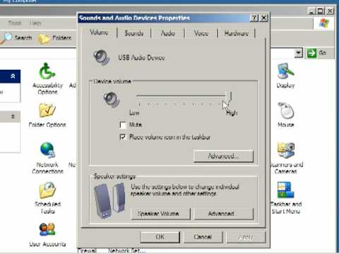 How to manage Sound Settings in Windows XP