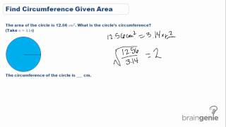 12 1 Find Circumference Given Area