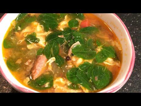 Sinabawang sardinas with itlog & malunggay ( Sardines with eggs & moringa leaves soup) | Filipino