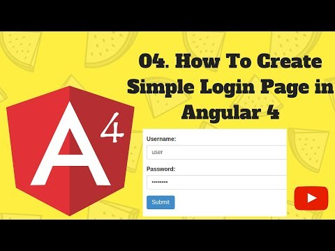 AngularJS 4 Tutorial: 04. How to create simple login page in angular 4
