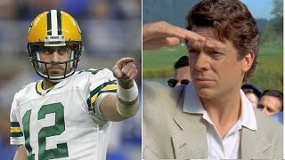 """Aaron Rodgers Gets into TWITTER WAR with """"Shooter McGavin"""" from Happy Gilmore After QUITTING Golf"""