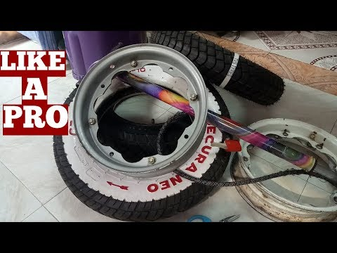 How To-Tire-Lambretta Scooter Tire Installation To Wheel Rim Yourself At Home YouTube Video-Diy