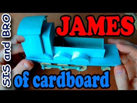 James train of cardboard | Cardboard Model Train Thomas and Friends | Step by step
