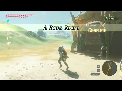 Zelda: Breath of the Wild | A Royal Recipe Side Quest - Central Tower Region