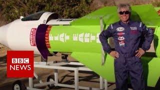 Man flies rocket to