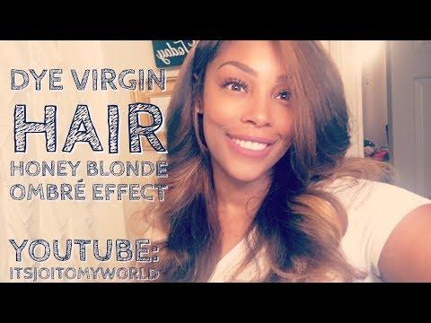 DIY: How To Color Virgin Hair Honey Blonde