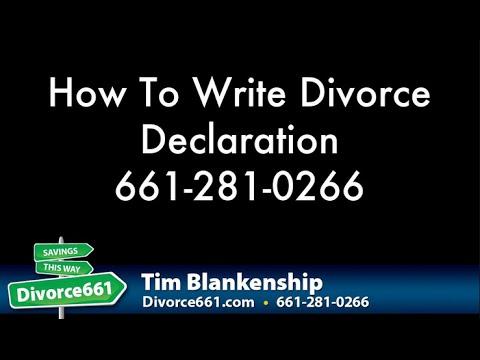 Los Angeles Divorce | How To Write Los Angeles Divorce Declaration