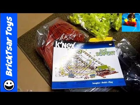 Building the K'Nex Son of Serpent Roller Coaster- Day 1 - Unboxing and checking contents