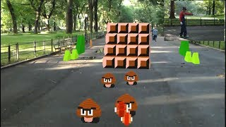 Super Mario Bros in Real Life (Augmented Reality) by Abhishek Singh