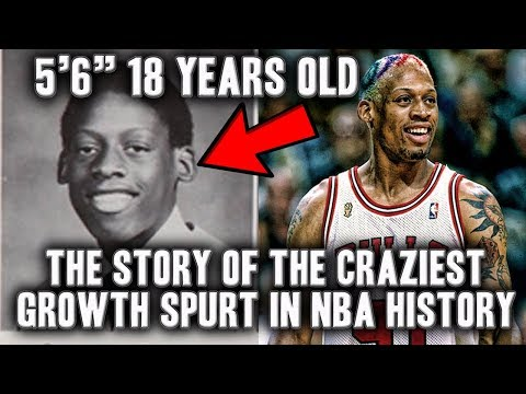 The Story Of Dennis Rodman's Crazy Growth Spurt | Grew A Foot In A Year?