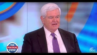 newt gingrich on comey hearing russia investigation trumps cabinet meeting the view