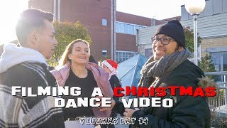 FILMING A CHRISTMAS DANCE VIDEO | VLOGMAS DAY 14