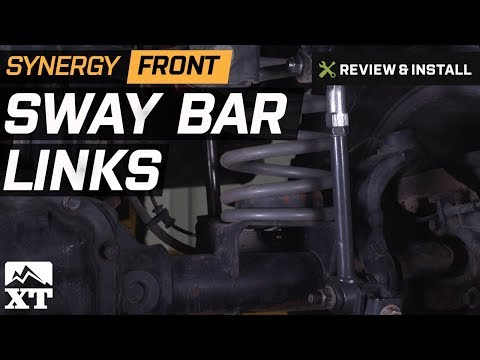 Jeep Wrangler Synergy Front Sway Bar Links Review & Install