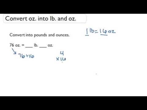 Convert oz. into lb. and oz.