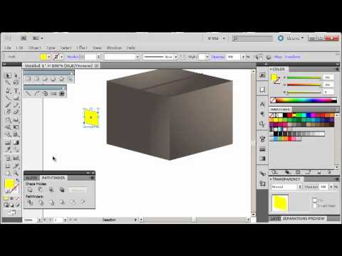 Adobe Illustrator CS5 Tutorial 6 | Make a Package Box