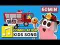 WHEELS ON THE CAR COMPILATION LARVA KIDS SUPER BEST SONGS FOR KIDS LEARNING SONG