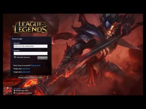 League of Legends Dragonslayer Xin Zhao Login Screen + Music