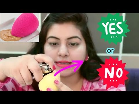 How To Apply Foundation with a Beauty Blender ? Beginners Makeup Tips & Tricks   JSuper Kaur