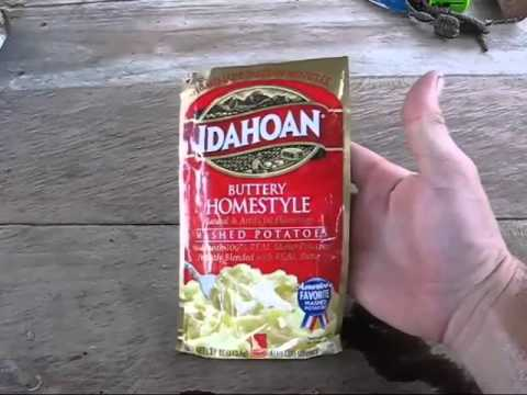 instant mashed potatoes add a few pouches to cooking set