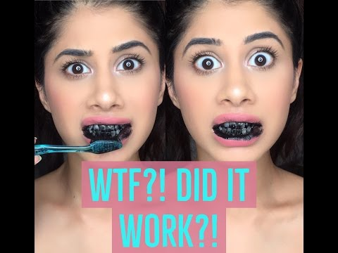 DOES THIS WORK?! Trying the CARBON COCO TEETH WHITENING | Malvika Sitlani