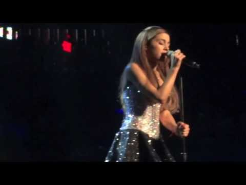 Ariana Grande crying during Honeymoon Avenue - Philly