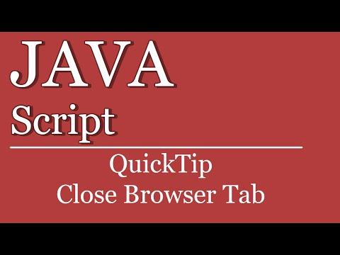 QuickTip #97 - JavaScript Tutorial - Tab schließen | close tab with javascript | HTML