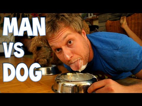 Man vs Dog - Round 2 - Yogurt | Furious Pete