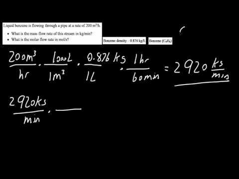 Example Mass flow rate & molar flow rate (process variable pt 4)