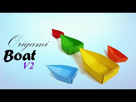 Origami Single point Floating Boat ⛵ How to make a simple origami boat v2 for kids - Paper Work.