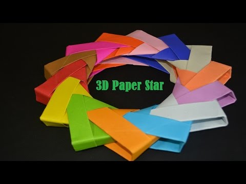 How to Make a 3D Paper Star - origami