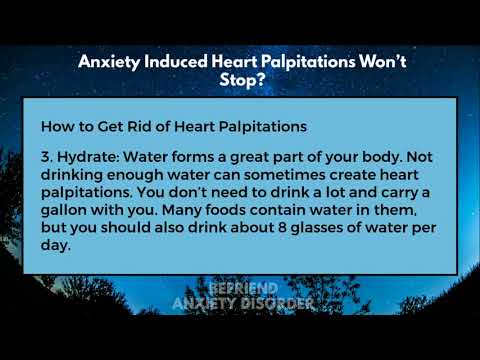 Anxiety Induced Heart Palpitations Wont Stop?