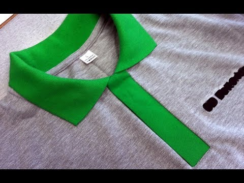 DIY Sewing course how to sew a polo shirt lacosta. Kurs szycia plisa polo koszulka z dzianiny