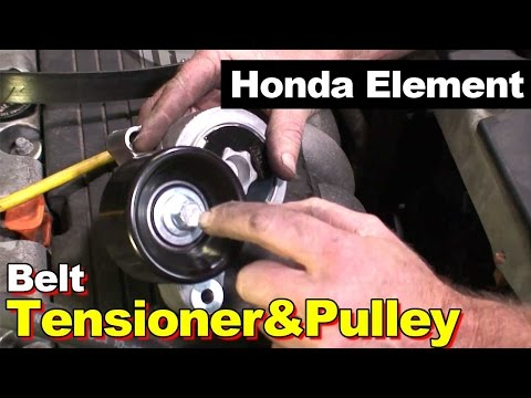 2006 Honda Element Tensioner Pulley and Serpentine Belt