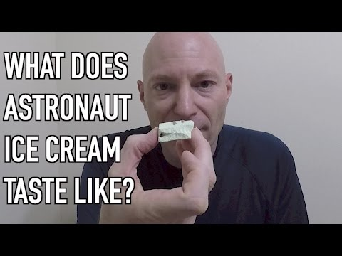 What the heck does astronaut ice cream taste like?