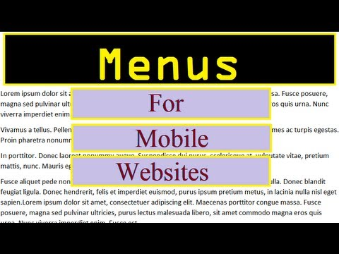 jQuery Mobile Menu