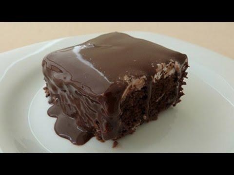 Chocolate Moist Cake Recipe - Turkish Style Wet Cake