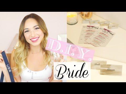 D.I.Y. BRIDE | MENU & PLACECARD TUTORIAL & PERSONALIZED HAUL!