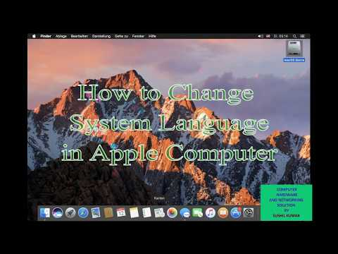 How to Change System Language in Apple or Mac Osx   HINDI   Sushil Tech