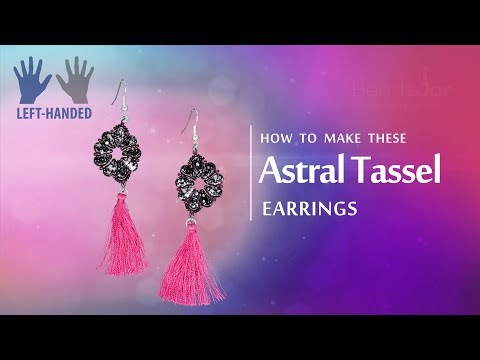 Left-handed ★ How to make these Astral Tassel earrings | Paisley Duo seed beads