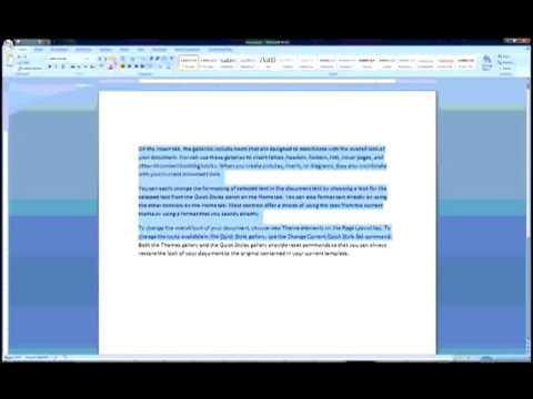 Reuse and Remove Formatting in Word 2007