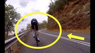 The Day Chris Froome Got DROPPED By An Ex Pro Up Corkscrew Road Caught On Camera