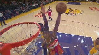 John Wall Lefty Dunks! Wizards Clinch Division! 1st Since 1979