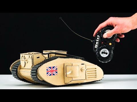 DIY TOY RC Tank Cardboard Model