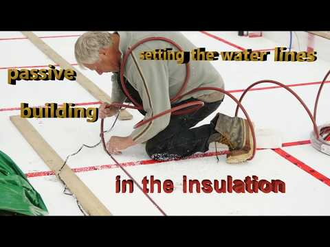 Passive Home Building in Port Alberni BC  building , Setting the water lines